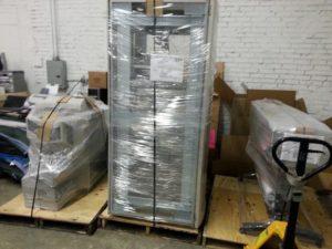 Packed server racks